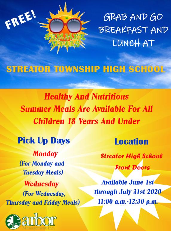 Free Lunch @ Streator High School flyer