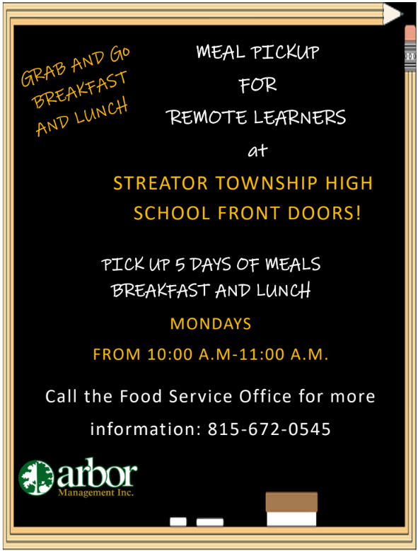 Free Breakfast and Lunch Pick up for Remote Learners